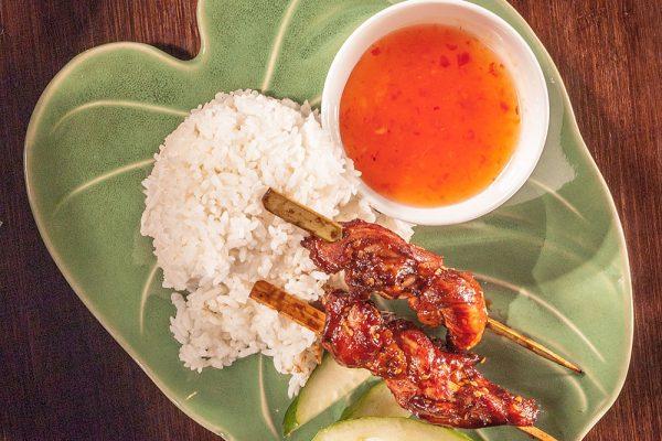 Kyllingspyd med ris