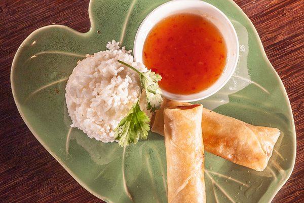 Vårrull med ris